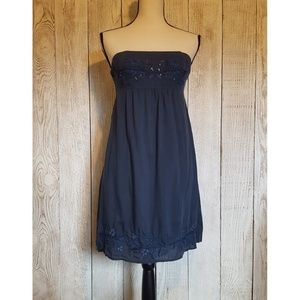 American Eagle Stapless Embroidered Mini Dress